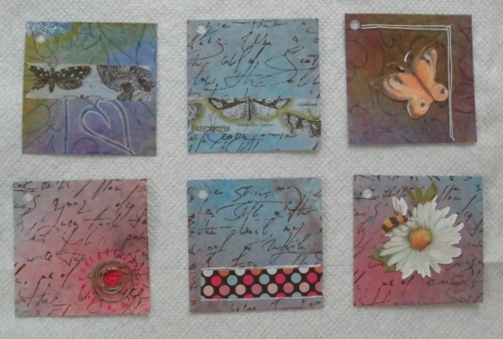 Some of the completed gift tags