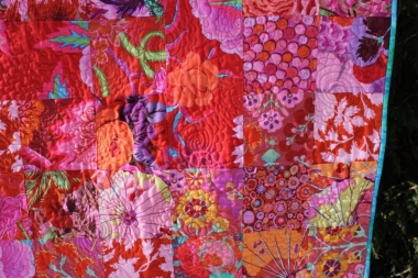 The Pink Quilt, detail